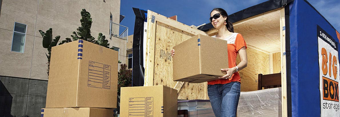 After graduating from SDSU, she had a Big Box delivered to her College Area apartment and then had it shipped to San Francisco.