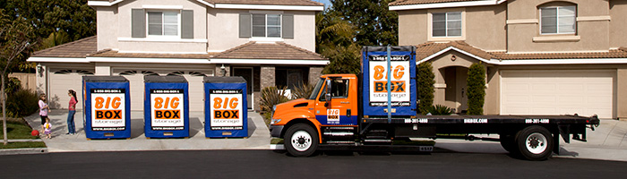 Big Box Storage delivers portable storage units