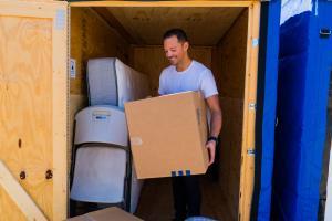 loading big box storage unit